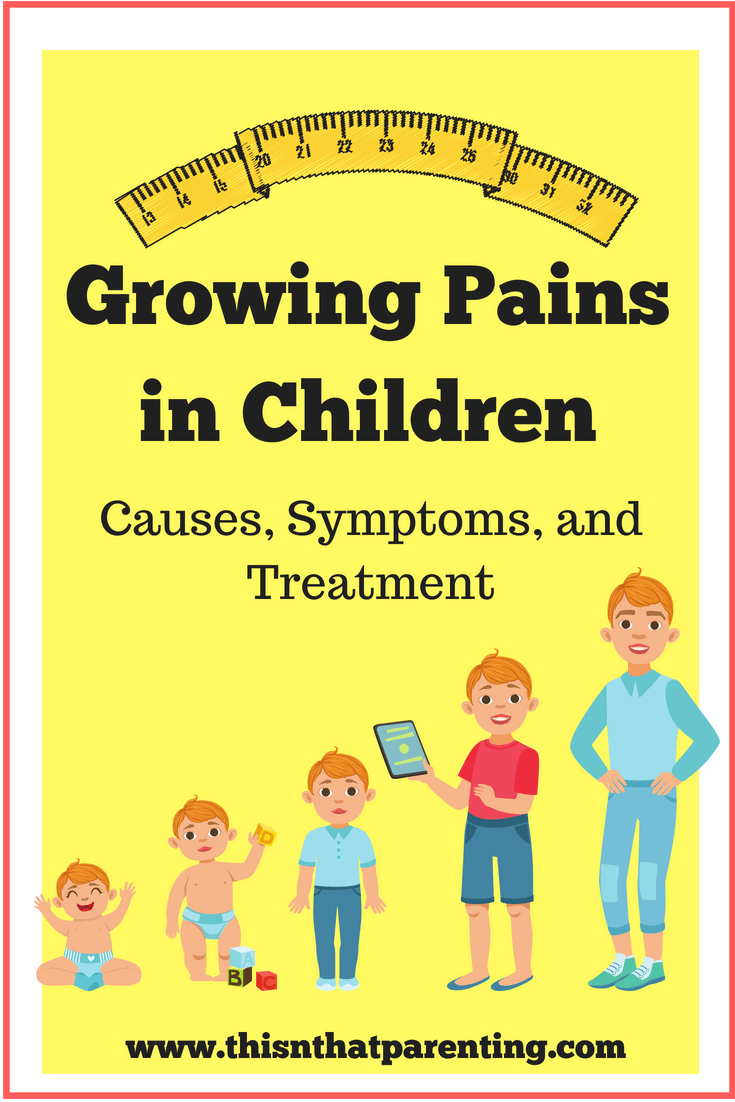 This article defines growing pains, gives some causes, symptoms, and gives some ideas on how to relieve the pain. #growingpains #growingpainskids #growingpainsremedies #parenting #parentingtips #growingpainshacks #howtohelpgrowingpains