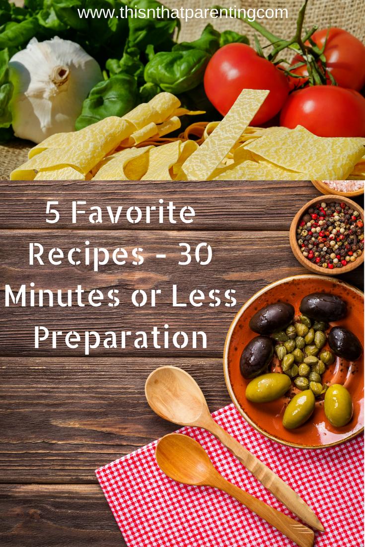5 favorite recipes