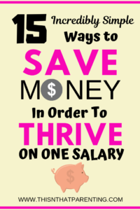15 Simple Ways to Save Money In Order To Thrive on One Salary