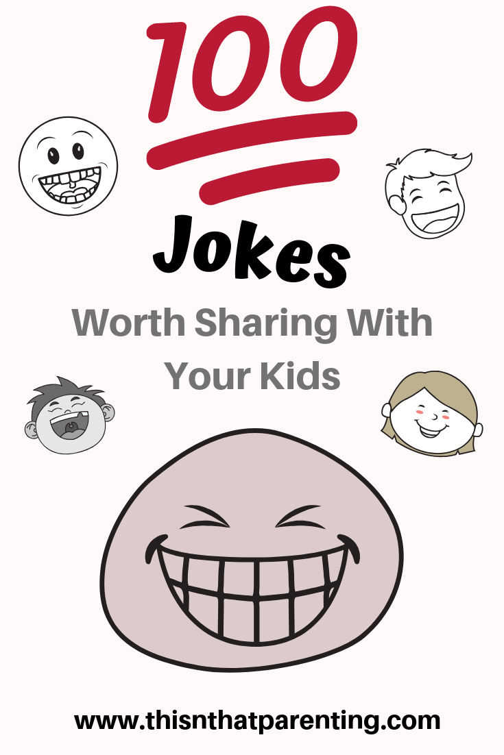 This post will convince you that it is worth every effort to be intentional about making sure your family is laughing. I encourage you to find a way to bring humor and fun into your family. Great things happen to families who laugh together. They begin to talk and giggle and lighten up. Parents must be intentional about creating special times together to build lifelong memories and fun together. Get 100 Jokes Worth Telling Your Kid #jokesforkids #familyfun #laughteristhebestmedicine