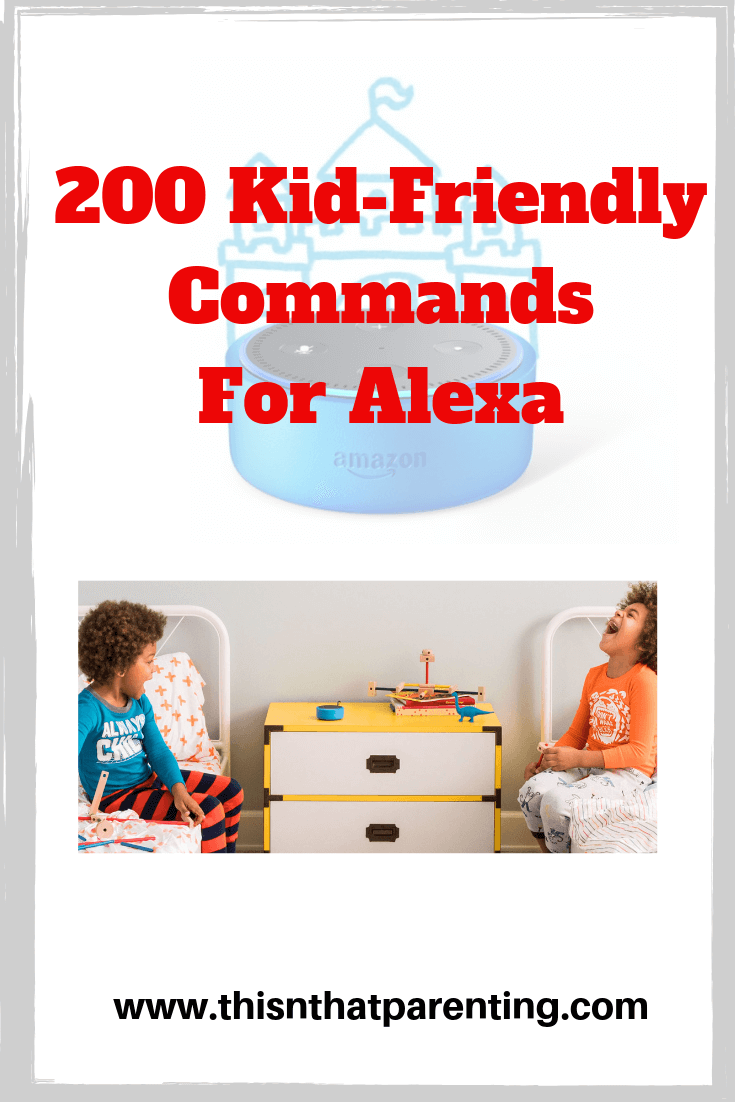 This post contains 5+ reasons why my family recommends all families own an Alexa: Echo Dot Kids Edition. There is a free PDF of 200+ Kid-Friendly Alexa Commands! This list will give your child plenty of ideas of what Alexa is capable of and have them creating their own commands in no time. #echodot #commandsfortheechodot #echodothacks #alexacommands #commandsforalexa #commandstogivealexa