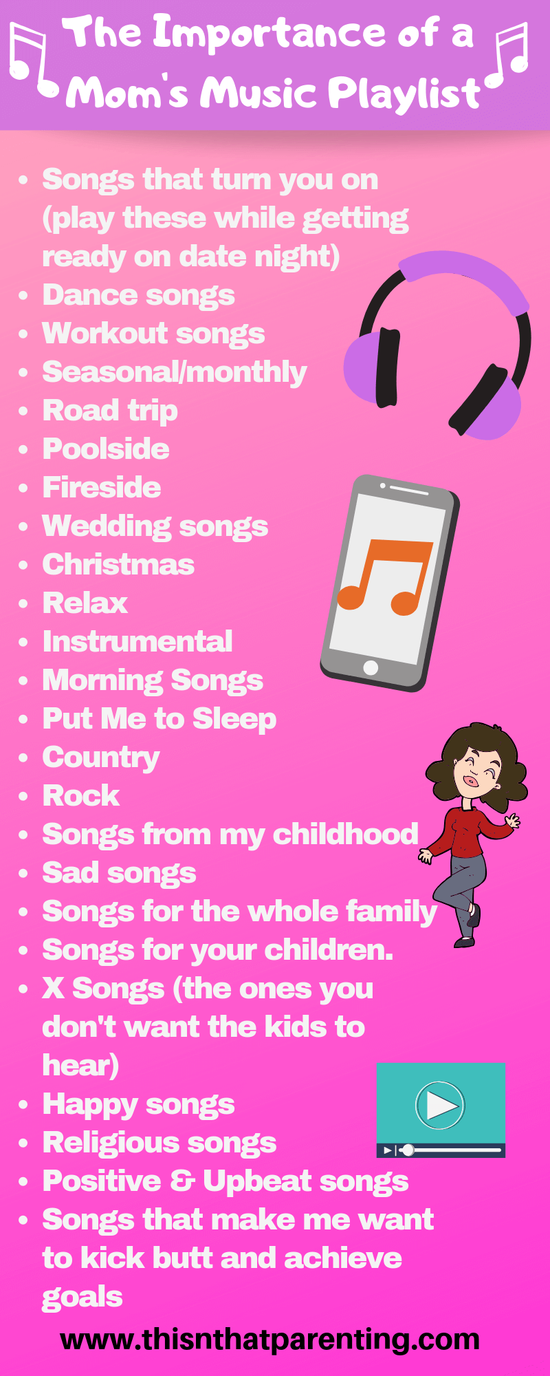 This post gives you the why, how to, what categories and how to use a playlist. I also share my personal playlist as a place to get started if you wish. #music #playlist #playlistsformoods #playlistideas