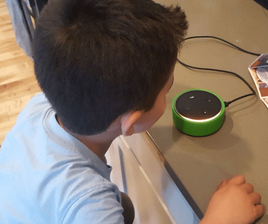 200 FREE Kid-Friendly Alexa Commands for Your Echol Device- This list includes jokes, games, educational ideas, and more. Plus the top 5 reasons we love our Echo Device #parentingproducts #parentingresources #familylife #intentionalparenting #parentingtips