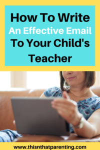 how to write an effective email to your child's teacher