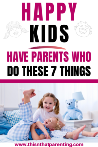 7 Ways to Be a More Patient Mom- Happy kids have parents who are patient with them.  Be intentional about using positive parenting techniques. #parentingtips #intentionalparenting #parentingadvice #momlife #parenthood