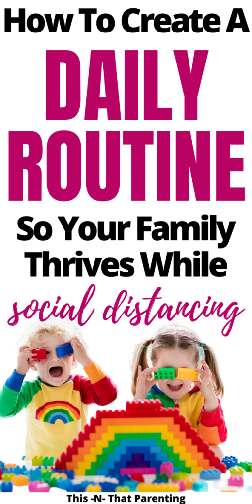 The best way to calm the chaos in a household is to have family routine daily schedules in place. This article gives you step-by-step directions to create a routine or schedule that is customized for your family's needs. You will get family routine ideas and have a chart to post by the time you finish! You can control how your family spends their time!!